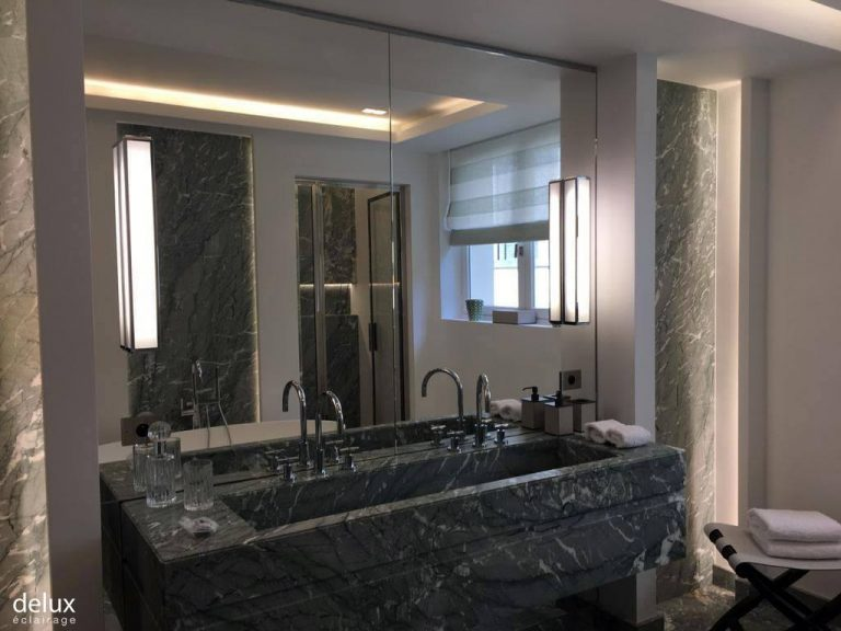 L'éclairage de la salle de bains