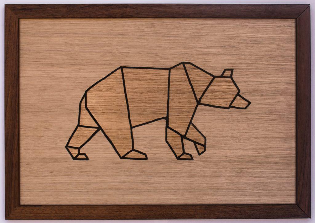 Tableau bois animaux rgcreation sobre minimaliste panneau valchromat