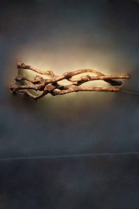 ENCHEVÊTREMENT 1 - Lampe Murale à partir de racines enchevêtrées par SBands Créations