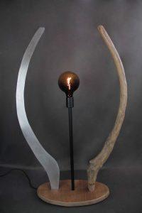 EQUINOXE 1 - Oeuvre d'art associant le bois et le métal dans un parfait équilibre, créé par Simon Bands