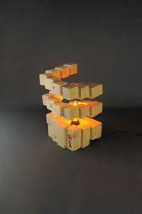 Lampe Cubes Géométrique Design Déco Création Artisanale Sbands 1