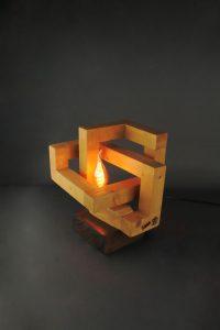 Lampe Infinie Cubes Géométrique Design Déco Création Artisanale Sbands 1 New