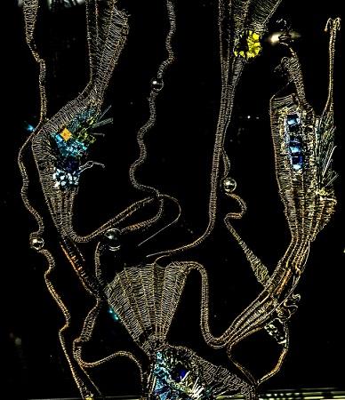 artiste mosaïste Catherine Juge Thouroube Toulouse laminaire sculpture de fil et de mosaïque