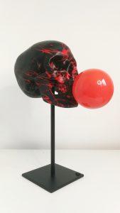 article blog Mon Meublé déco JB artiste my bring brain collection à bout de souffle bubbles skull