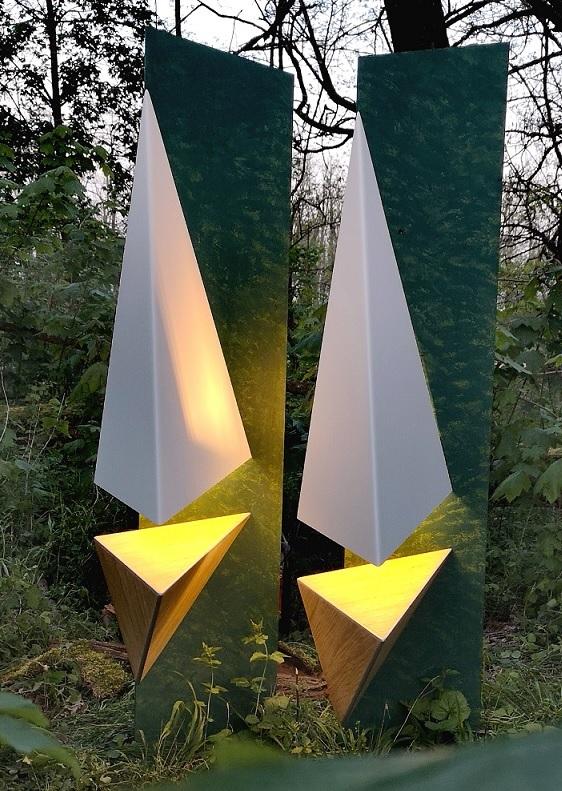 Sven rusti luminaire métal aluminium thermolaqué géométrique