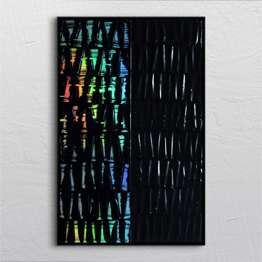 Michaël Mazet artiste peintre d'Auvergne peinture tribale effet holographique peinture qui change de couleur avec la lumière
