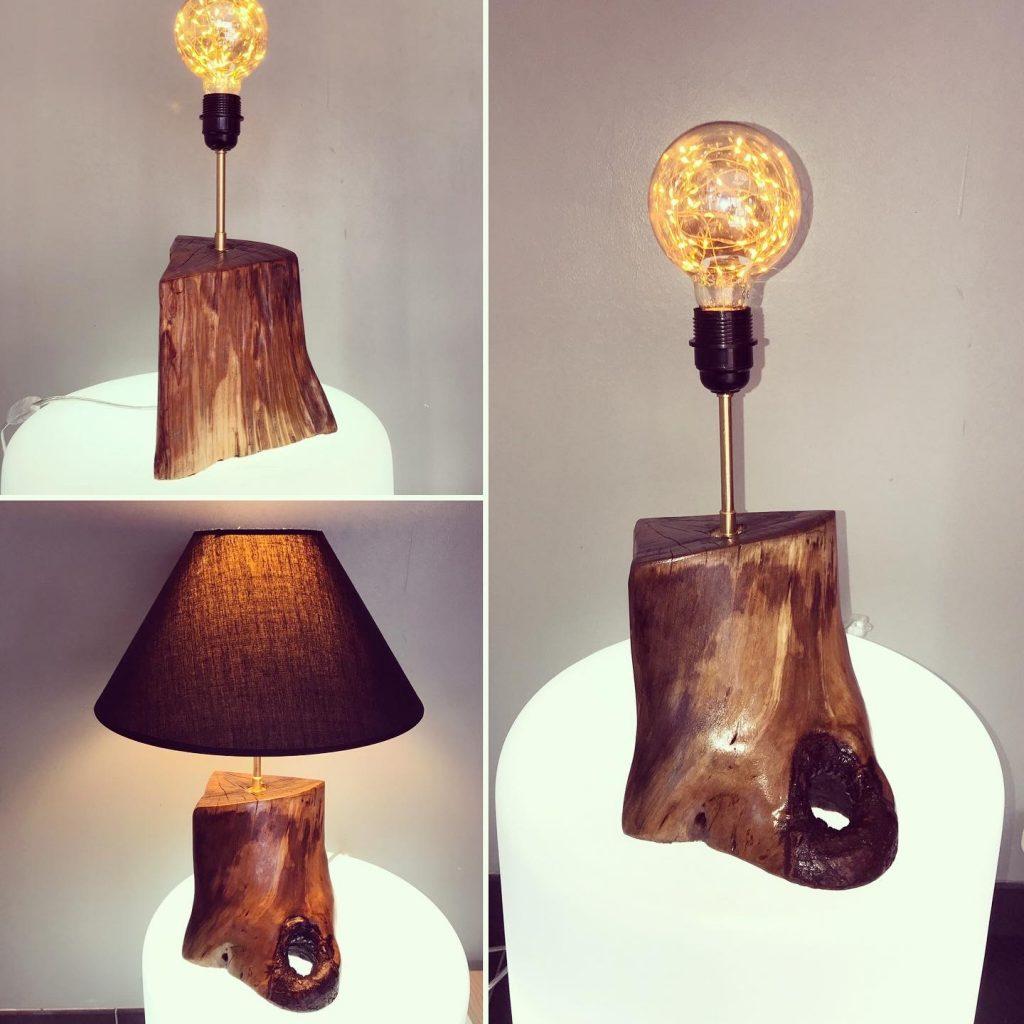 Créateur professionnel Luzandwood création luminaire bouts de bois recyclé sur-mesure