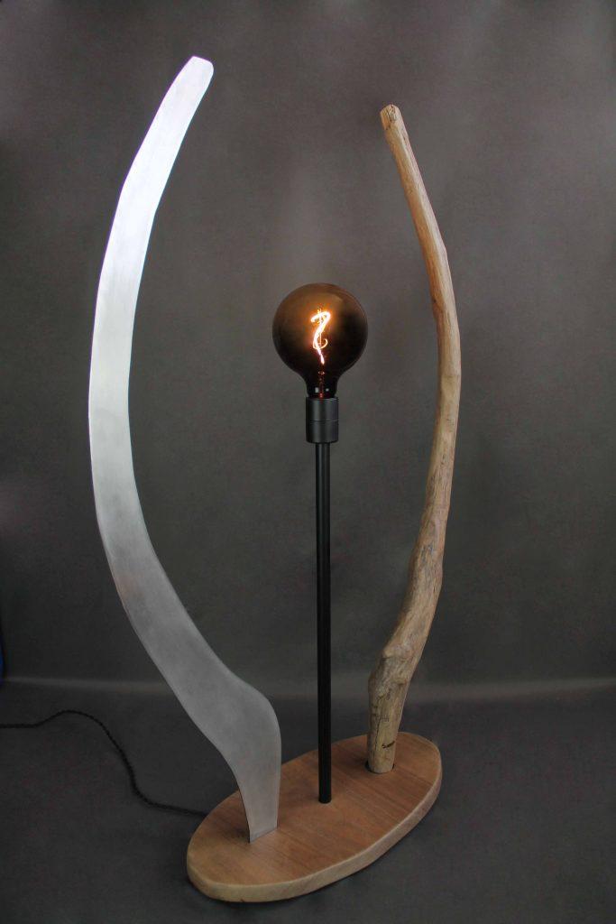 lampe artisanale bois flotté design Grenoble