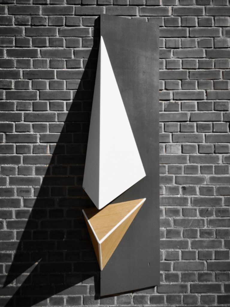 Lampe triangulaire luminaire triangle scalène forêt