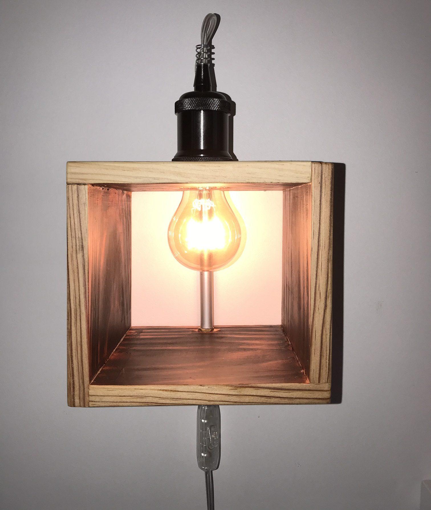 Luminaires – LUZANDWOOD – Lampe Cube
