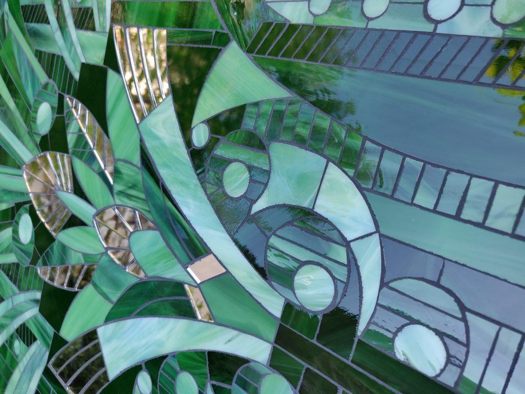 Blog décoration détails du tableau Retropical Myriam Hubert Verrier mosaïste