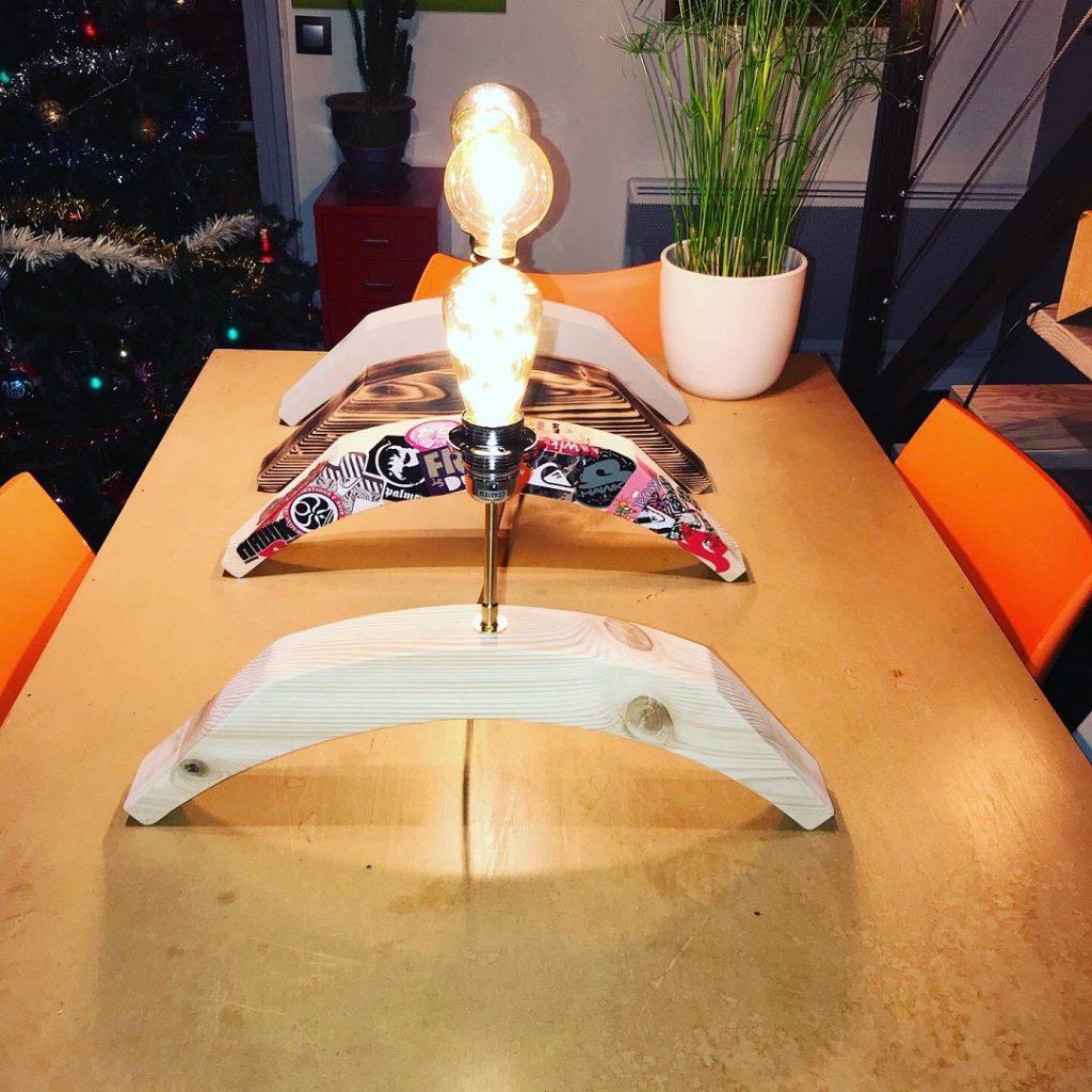 Créateur professionnel Luzandwood création luminaires bouts de bois recyclé sur-mesure