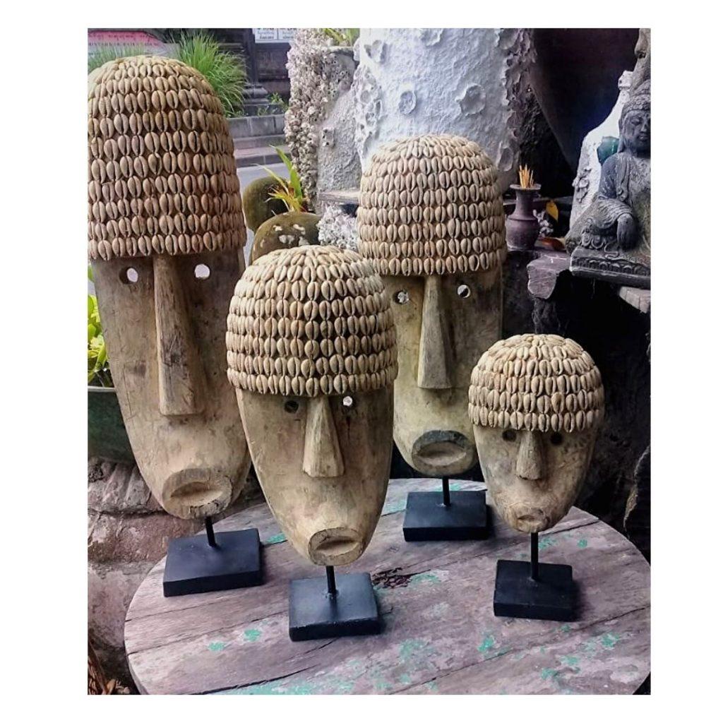 masque tribal Bali bilanais bois de manguier masque indonésien