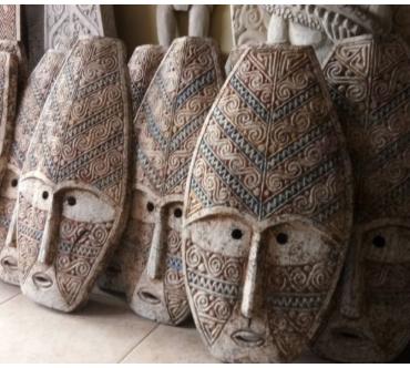 Masques tribals balinais