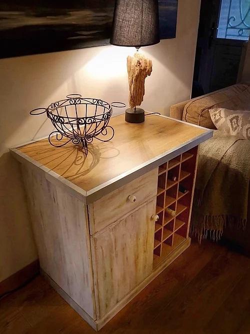 meuble sur mesure création lampe artisanale récupération détournement d'objet meuble sur mesure