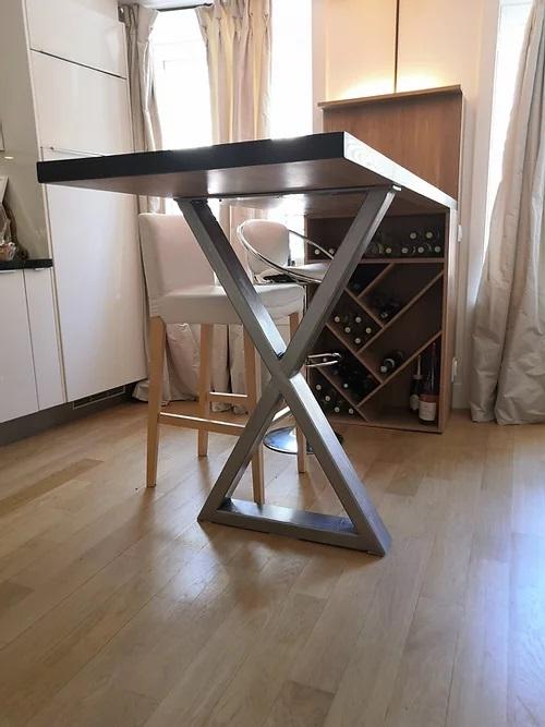 création lampe artisanale récupération détournement d'objet meuble sur mesure