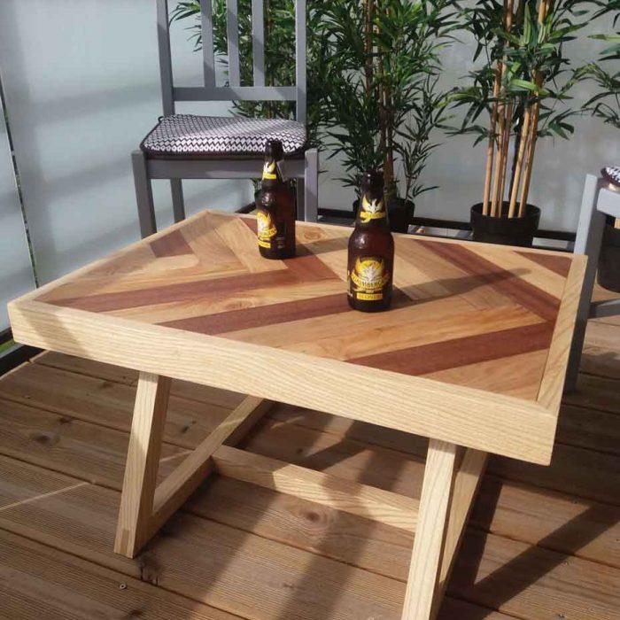 artisan ébéniste haute garonne table rivière bois résine époxy commande meuble