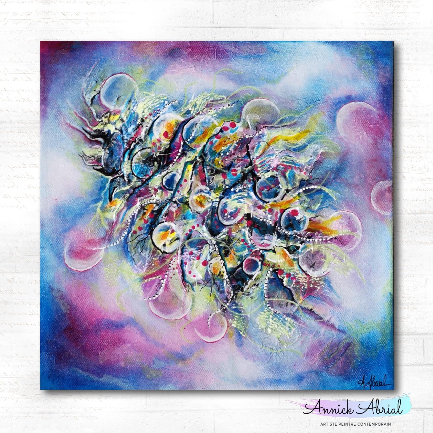 Peinture abstraite acrylique - Annick Abrial