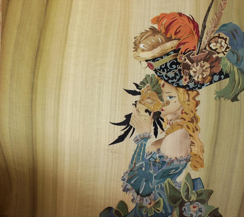 marqueteur de paille ACMarqueterie tableau papillon bijoux marqueterie de paille