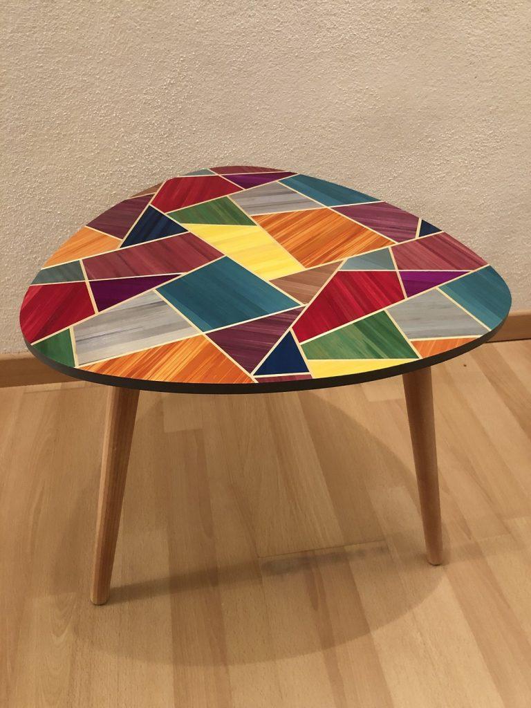 Marqueterie de paille Relooking meuble Relooker un meuble en bois Customiser un meuble en bois Customiser un meuble ancien