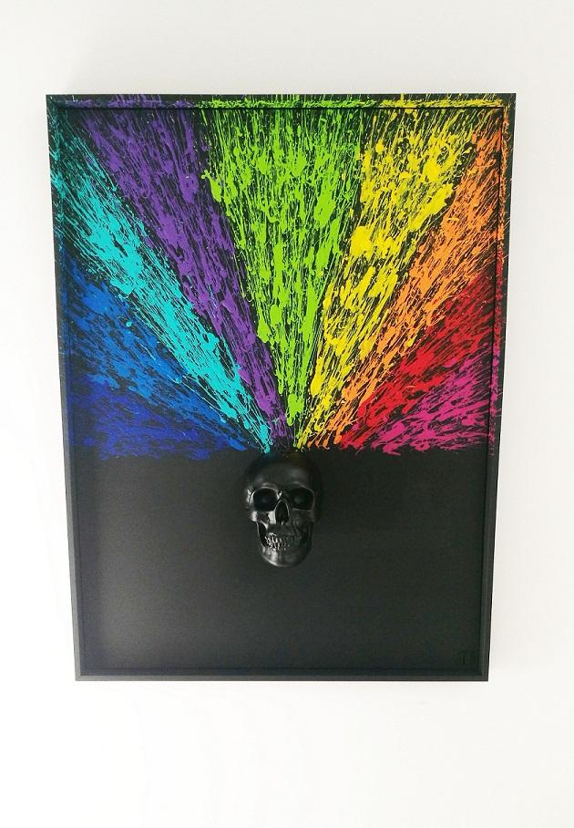peinture sculpture de crâne - JB